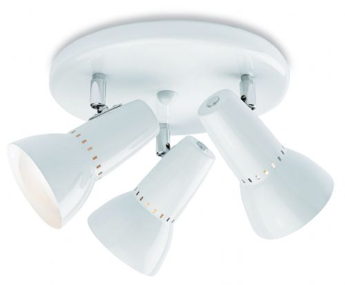 Firstlight 5523WH White Lynx 100 3 Light Flush